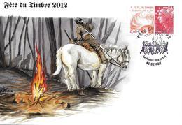 """4688 -FÊTE DU TIMBRE 2012 """"le Feu"""" Carte Nationale 13-10-2012 SEMOY (45) - FDC"""
