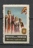 8165-viñeta Nueva** Fiestas De La Merced Año 1953 CINDERELLA VIGNETTE VIGNETTEN BARCELONA CATALUÑA - Fiscales