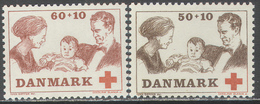 1682 ✅ Medicine Red Cross Children Kings Monarchs 1969 Danmark 2v Set MNH ** - Medicine