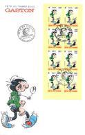 BC 3370a Et 3371 FÊTE DU TIMBRE 2001 - GASTON LAGAFFE Grande Enveloppe Nationale 24-02-2001 SAINT-DENIS-EN-VAL (45) - 2010-....
