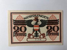 Allemagne Notgeld Nordlingen 20 Pfennig - Collections