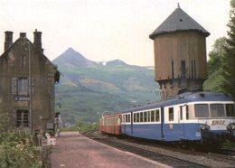 SAINT JACQUES DES BLATS Ligne Arvant Aurillac Train Automoteur Autorail X 2909 Remorque Et Picasso X 3800 En 1978 - Frankreich