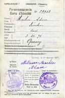 PERSONENAUSWEIS Carte D'identité 1917 QUESSY, CHAUNY - 1914-18
