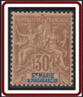 Sainte-Marie De Madagascar - N° 09 (YT) N° 9 (AM) Neuf *. - Neufs
