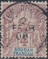 Soudan Français 1894-1900 - Tombouctou / Ht-Senegal Et Niger Sur N° 5 (YT) N° 5 (AM). Oblitération De 1908. - Sudan (1894-1902)