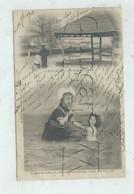 Le Pouliguen (44) :  2 Vues Dont GP D'une Fillette Faisant Prendre Un Bain à Sa Poupée En 1902 (animé) PF . - Le Pouliguen