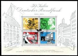 A00-29) Berlin - Mi Block 4 = 455 / 458 - ESST OO Gestempelt (A) - 50 Jahre Deutscher Rundfunk - Blokken