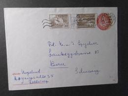 Dänemark Mi. GA U 68 Mit Zufrankatur 1965 In Die Schweiz Gelaufen - Interi Postali