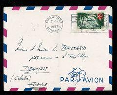 Lettre à En-tête  BRAZZAVILLE R.P / MOYEN CONGO 31-10-1957 Flamme Chasse Affr. Ordre Malte   2 Scan - Congo Francés (1891-1960)