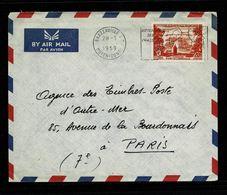 Lettre à En-tête  BRAZZAVILLE R.P. / MOYEN CONGO 28-1-1959 Flamme Chasse Affr. 20F FIDES AEF   2 Scan - Congo Francés (1891-1960)
