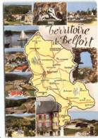 Territoire-de-Belfort- Carte Géographique Rougemont Delle Giromagny Lepuix-Gy Chatenois Rosmont. Edit Cim - Cartes Géographiques