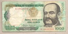 Peru - Banconota Circolata Da 1000 Soles De Oro  P-122a - 1981 #18 - Perú