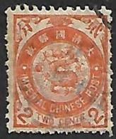 CHINE  1897 - YT  36 - Dragon   - Oblitéré - China