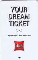FRANCE Hotel Keycard - Ibis Your Dream Ticket, Used - Hotelkarten