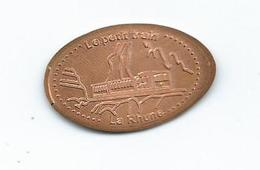 17367 - PIECE ECRASÉE TOURISTIQUE - LE PETIT TRAIN - LA RHUNE - (64 - PYRÉNÉES ATLANTIQUES) - Pièces écrasées (Elongated Coins)