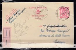 Postkaart Van Quaregnon Naar Paturages - 1935-1949 Klein Staatswapen
