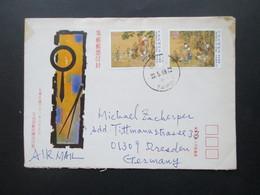 China 2008 Beleg Von Taipei Nach Dresden Mit 2 Marken Frankiert! Air Mail / Luftpost - 1949 - ... République Populaire