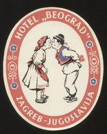 Croatia ZAGREB Hotel BEOGRAD Luggage Label -  10 X 8 Cm (see Sales Conditions) - Hotel Labels
