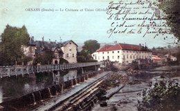 DOUBS  ORNANS EDIT JOURNOT 1907 USINE OLIVIER ET LE CHATEAU - Autres Communes