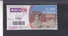 EL PAIS TE QUEDA CERCA - OCA CORREO PRIVADO ARGENTINA CIRCA 2000's. PRIVATE COURIERS AUTOADHESIF STAMP USED - LILHU - Otros