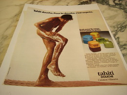 ANCIENNE PUBLICITE TAHITI DOUCHE 1975 - Sin Clasificación