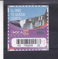 CATARATAS DEL IGUAZU - OCA CORREO PRIVADO ARGENTINA CIRCA 2000's. PRIVATE COURIERS AUTOADHESIF STAMP USED - LILHU - Otros