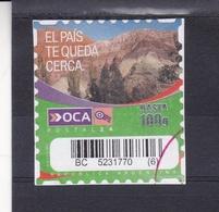 CERRO DE LOS 7 COLORES - OCA CORREO PRIVADO ARGENTINA CIRCA 2000's. PRIVATE COURIERS AUTOADHESIF STAMP USED - LILHU - Otros