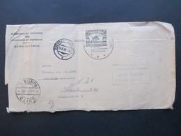 Ecuador 1936 Marke Mit Aufdruck Oficial Direccion De Ingresos Del Ministerio De Hacienda Quito Luftpost Nach Dresden - Ecuador