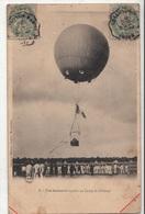CPA- Une Ascension Captive Au Camp De Châlons- 1906-dép51-2scans - Camp De Châlons - Mourmelon