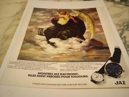 ANCIENNE PUBLICITE ELECTRONIC MONTRE JAZ 1975 - Bijoux & Horlogerie