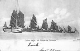 Nieuport Nieuwpoort  -  La Flotille Des Pêcheurs (animation Bateaux 1904 Chocolat César) - Nieuwpoort
