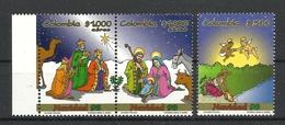 COLOMBIA 1998 CHRISTMAS SET MNH - Christmas