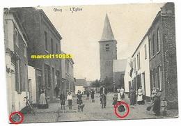 Ghoy - L'église 1903 ( Carte Recollée Sur Carton ) Voir Scan Pour Les Défauts Entourés En Rouge - Lessines