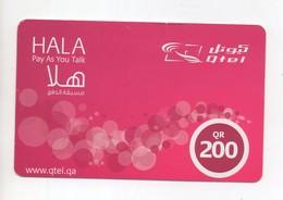 Hala Prepaid Phonecard Qatar 2016 - Qatar