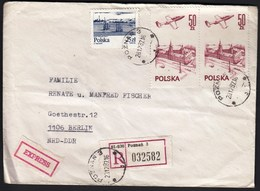 Poland Poznan 1987 / Vistula River, Ships, Modern Airflight,Airplane, Castle - Cartas