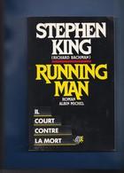 """""""""""STEPHEN  KING  """""""" -- 1988  --  """""""" RUNNING  MAN  IL  COURT  CONTRE  LA  MORT  """"""""  TBEG.......... - Albin-Michel - Le Limier"""