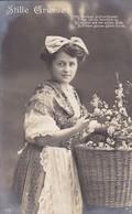 AK Stille Grüsse - Frau Mit Blumen - Detmold 1910 (45232) - Frauen