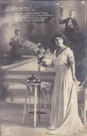 AK Träumerei! - Frau Mit Blumenvase - 1917 (45234) - Frauen