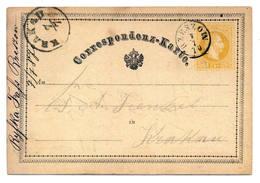Ganzsache österreichisch Polen, Galizien, Rzeszow 1875 Nach Krakau - Entiers Postaux