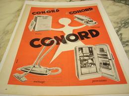 ANCIENNE PUBLICITE LESSIVE REPASSAGE  CONORD 1957 - Sonstige
