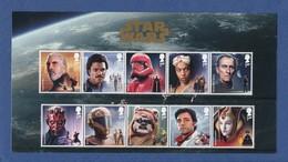 GRANDE BRETAGNE STAR WARS™ 2019. Character Stamp. Set De 8 Timbres Neufs**. Cinéma, Film, Movie. - Cinéma
