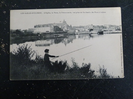 LES SABLES D'OLONNE - VENDEE - L'EGLISE LA POSTE LA POISSONNERIE VUE PRISE CHEMIN PARCS A HUITRES - Sables D'Olonne