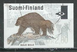 Finlande Timbre Distributeur Ours 2,80 Oblitéré ° - Vignettes D'affranchissement (ATM/Frama)