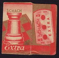 Razor Blade SCHACH Chess Old  Vintage WRAPPER (see Sales Conditions) - Razor Blades
