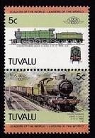 2 TIMBRES NEUFS DE TUVALU - LOCOMOTIVE CHURCHWARD 28XX CLASS 2-8-0, 1905, ROYAUME-UNI N° Y&T 299/300 - Eisenbahnen