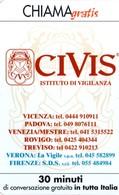 *CHIAMAGRATIS - N.844 - CIVIS* - Scheda NUOVA (MINT) (DT) - Sin Clasificación