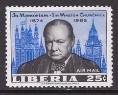 TIMBRE NEUF DU LIBERIA - MORT DE SIR WINSTON CHURCHILL N° Y&T PA 150 - Sir Winston Churchill