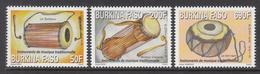 2013 Burkina Faso Musical Instruments Complete Set Of 3 MNH - Burkina Faso (1984-...)