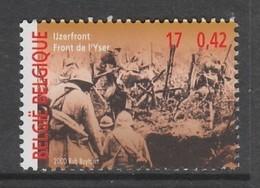 TIMBRE NEUF DE BELGIQUE - LE FRONT DE L'YSER N° Y&T 2940 - Prima Guerra Mondiale