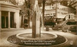 PARIS EXPOSITION DES ARTS DECORARTIFS  FONTAINE DU COMMISSARIAT GENERALE - Expositions